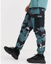 Nicce London Pantalones cargo con diseño - Verde