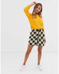 Pimkie Zip Front Mini Skirt - Yellow