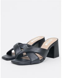 Stradivarius Cushioned Mule - Black