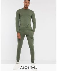 ASOS Tall Muscle Tracksuit - Green