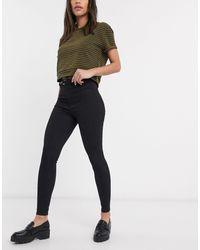 Bershka Belted Skinny Pants - Black