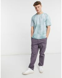 Native Youth Acid Wash T-shirt - Blue