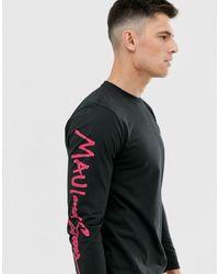 Maui & Sons Maui And Sons Rough Edges Long Sleeve T-shirt - Black