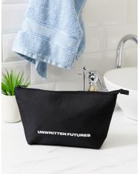 ASOS - Wash Bag With Unwritten Futures Slogan - Lyst