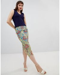River Island Lace Pencil Skirt - Green