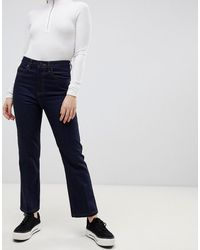 ASOS Recycled Egerton Rigid Cropped Flare Jeans - Blue