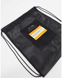 CALVIN KLEIN JEANS EST. 1978 Logo Drawstring Backpack - Black
