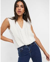Y.A.S . Stine Broderie Detail Top - White