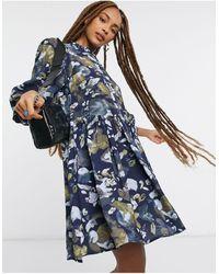 Object Smock Dress - Blue