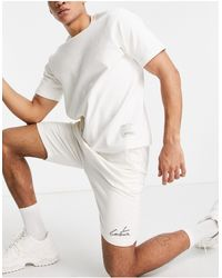 The Couture Club Outline Regular Fit jogger Shorts - White