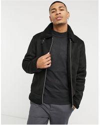 Barneys Originals Barney's Originals Faux-suede Jacket With Zip Front - Black