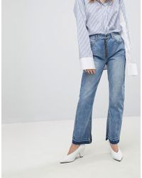 EVIDNT Slim Jean With Exposed Zip - Blue