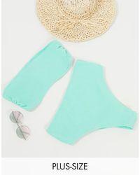 Simply Be Bandeau Bikini Set - Green