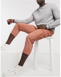 Another Influence Pantaloni cargo color cuoio - Multicolore