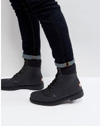 HUNTER - Original Commando Lace Up Boots - Lyst