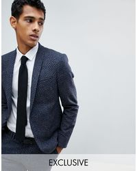 Noak Skinny Suit Jacket - Blue