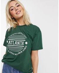 Daisy Street T-shirt décontracté à motif Atlanta - Vert