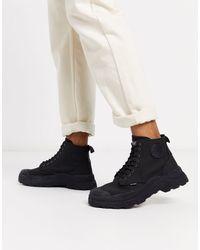Palladium Черные Высокие Ботинки -черный