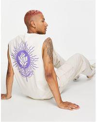 Honour Hnr ldn - t-shirt sans manches avec rose imprimée au dos - Multicolore