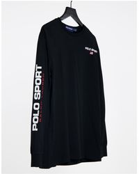 Polo Ralph Lauren Sport Asos Exclusive Long Sleeve T-shirt - Black