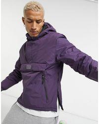 Pull&Bear Фиолетовая Дутая Куртка Без Застежки -фиолетовый - Пурпурный