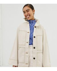Monki Utility Jacket In Off White
