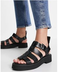 & Other Stories Leather Chunky Sandals - Black