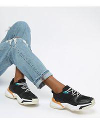 Pull&Bear - Chunky Colour Block Sneaker In Black - Lyst