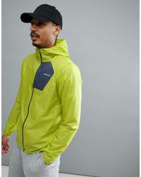 Patagonia - Houdini Packable Hooded Running Jacket Slim Fit Lightweight In Light Gecko Green - Lyst