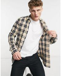 ASOS Stretch Skinny Check Shirt - Multicolour