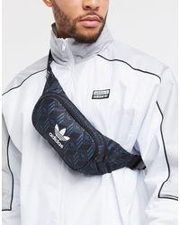 adidas Originals Черная Сумка-кошелек На Пояс С Логотипом-трилистником -черный