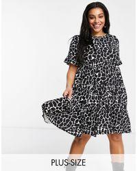 AX Paris Tiered Smock Dress - Black
