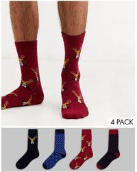 SELECTED Set regalo di Natale con calzini - Multicolore