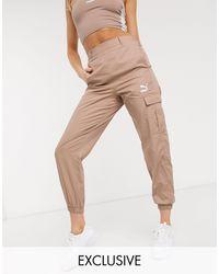 PUMA Pantalon fonctionnel taille haute - - Exclusivité ASOS - Marron