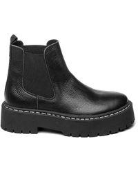 Steve Madden - Черные Лакированные Ботинки Челси На Массивной Подошве Veerly-черный Цвет - Lyst