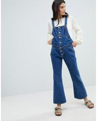 147c1c7b20e M.i.h Jeans Drayson Cotton Jumpsuit in Red - Lyst