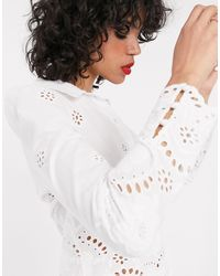 & Other Stories Blusa accollata - Bianco