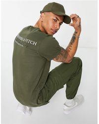 Abercrombie & Fitch - – T-Shirt mit Farbverlauf und Logoprint hinten - Lyst