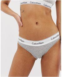 Calvin Klein - Хлопковые Плавки-бикини -серый - Lyst