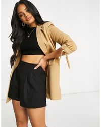 Lipsy - Ruched Blazer With Tie Sleeve - Lyst