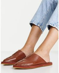 Free People Nova Flat Slip-on Sandals - Brown
