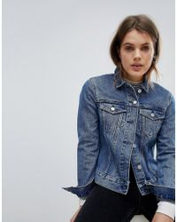 Weekday - Girlfriend Denim Trucker Jacket - Lyst