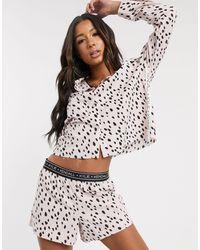 Kendall + Kylie Dalmatian Print Short And Top Set - Pink