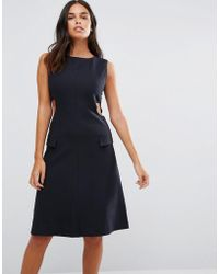 YMC - Cut Away Sides Fitted Dress - Lyst