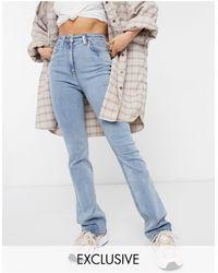 Collusion X008 - Jeans a zampa blu candeggiato invernale