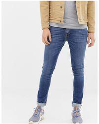 Nudie Jeans Co – Lin – Enge Jeans - Blau