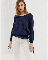 Pepe Jeans Jasmine Off Shoulder Blouse - Blue