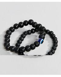 ALDO Black Beaded Bracelet