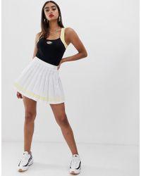 Fila - Pleated Mini Tennis Skirt - Lyst