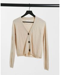 Mango Button Front Fine Knit Cardigan - Black